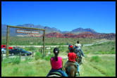 Cowboy Trail Rides in Red Rock Canyon near Summerlin